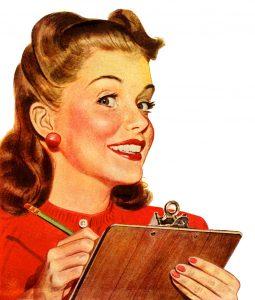 Tyttö, kynä ja kirjoitusalusta. Väri