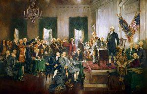 Philadelphian konventti allekirjoittaa perustuslain