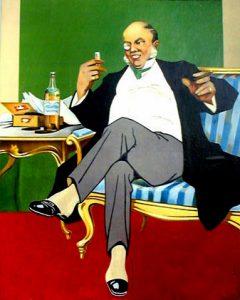 Viskiä-juova-ja-sikaria-polttava