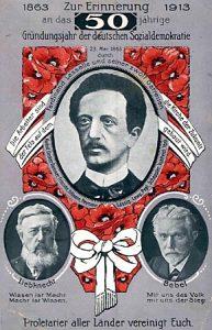 saksan-sosiaalidemokratian-50-vuotispaivan-juhlapostikortti-1913_-lassalle_-liebknecht_bebel